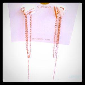 Gorjana Nina draped chain studs rose gold earrings